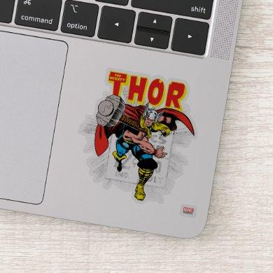 Thor Retro Comic Price Graphic Sticker