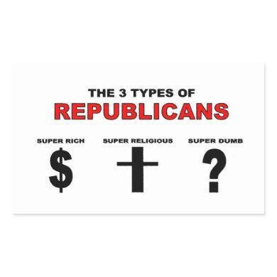 Three Types of Republicans Sticker