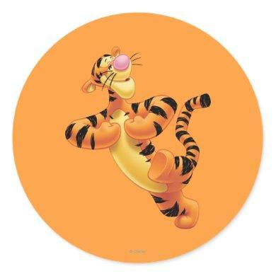 Tigger 6 classic round sticker