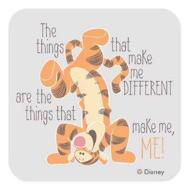Tigger | Make Me, Me Quote Square Sticker