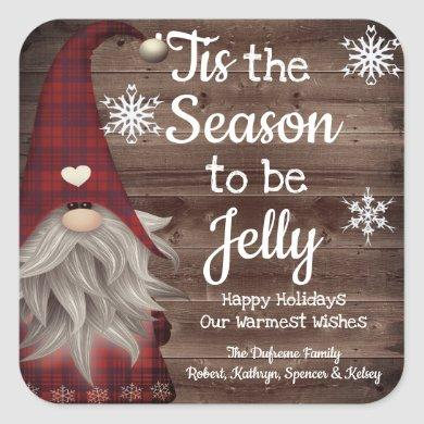 Tis The Season To Be Jelly Personalized Jar Label