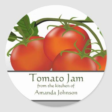 Tomato Jam Classic Round Sticker