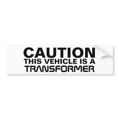 Transformer Bumper Sticker