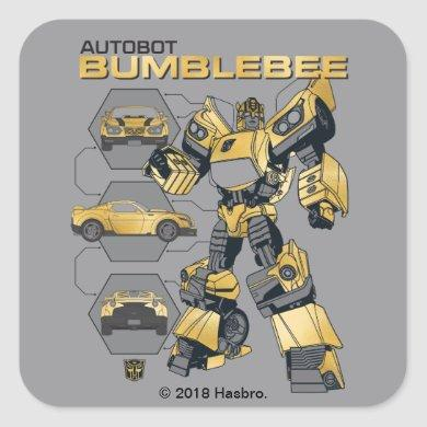 Transformers | Autobot Bumblebee Transformation Square Sticker