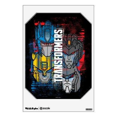 Transformers   Autobot & Decepticon Grunge Print Wall Decal