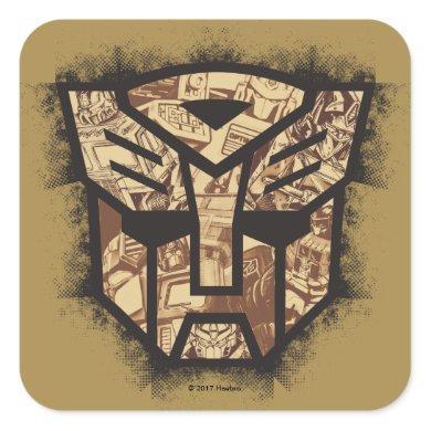 Transformers   Autobot Shield Square Sticker