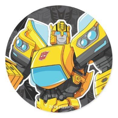 Transformers   Bumblebee 84 Camo Classic Round Sticker