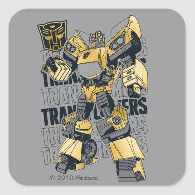Transformers   Bumblebee Foiled Graphic Square Sticker