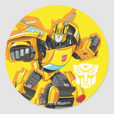 Transformers | Bumblebee Punching Pose Classic Round Sticker