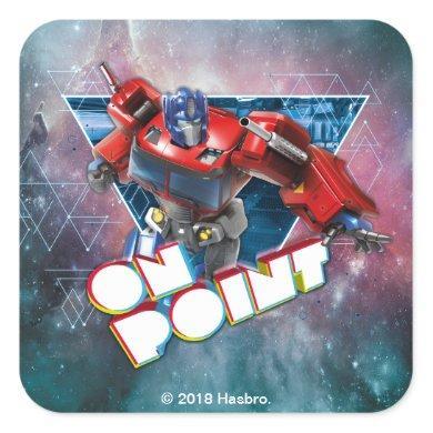 Transformers | Interstellar Optimus Prime Badge Square Sticker