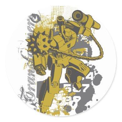Transformers - Megatron Collage Classic Round Sticker