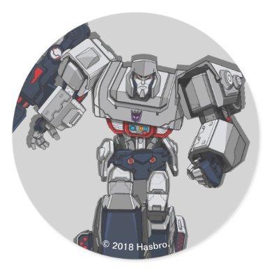 Transformers   Megatron Walking Pose Classic Round Sticker