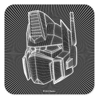 Transformers   Optimus Prime 3D Model Square Sticker
