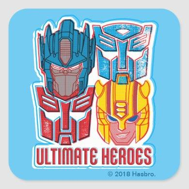 Transformers | Optimus Prime & Bumblebee Heroes Square Sticker