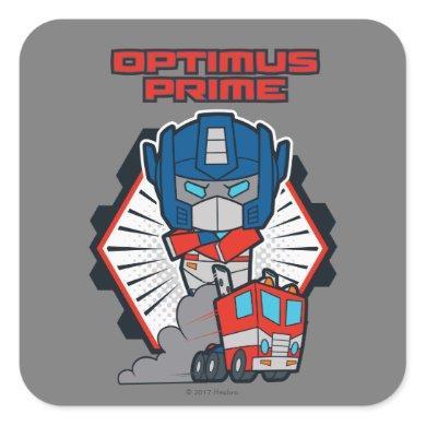 Transformers | Optimus Prime Returns Square Sticker