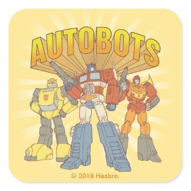 Transformers | Retro Autobots Group Graphic Square Sticker