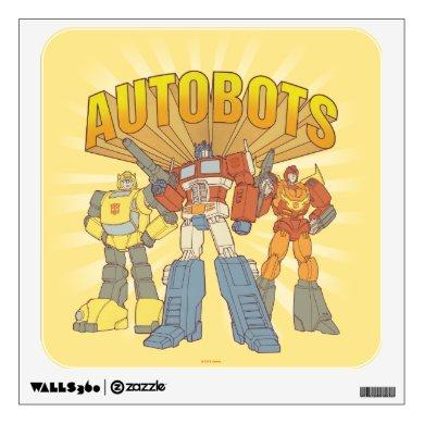 Transformers | Retro Autobots Group Graphic Wall Decal