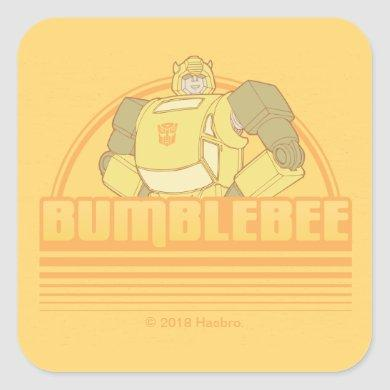 Transformers | Retro Bumblebee Sunset Graphic Square Sticker