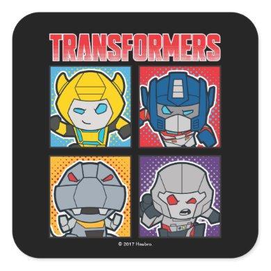 Transformers   Robots Assemble! Square Sticker