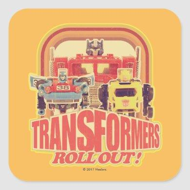 Transformers | Transformers Roll Out Square Sticker