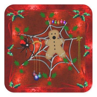 Trapped Gingerbread Square Sticker