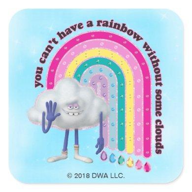 Trolls | Cloud Guy Rainbow Square Sticker