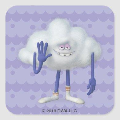 Trolls | Cloud Guy Square Sticker