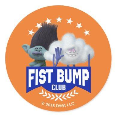 Trolls | Fist Bump Classic Round Sticker
