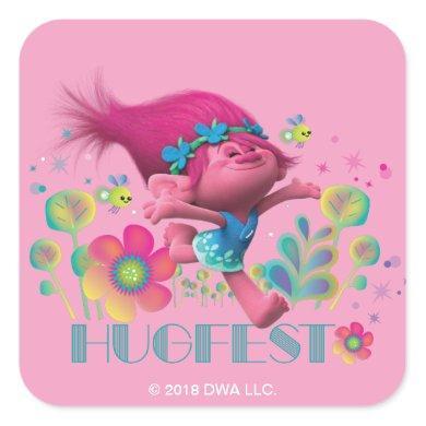 Trolls | Poppy - Hugfest Square Sticker