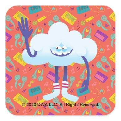 Trolls World Tour | Cloud Guy Cartoon Wave Square Sticker