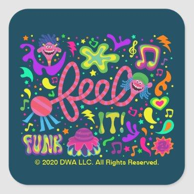Trolls World Tour | Feel It - Funk Square Sticker