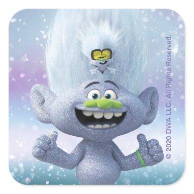 Trolls World Tour | Guy Diamond & Tiny Diamond Square Sticker