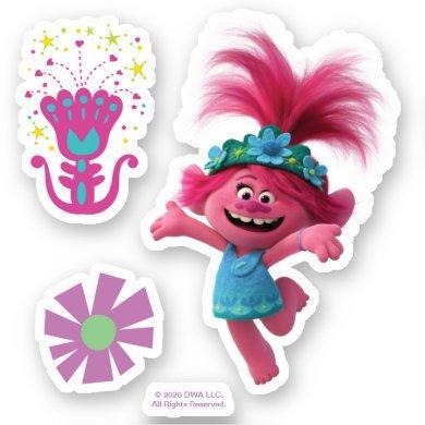 Trolls World Tour | Poppy Jumping for Joy Sticker