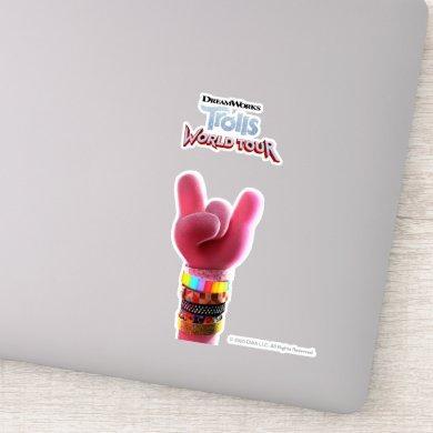 Trolls World Tour | Poppy Rock Hand Poster Sticker