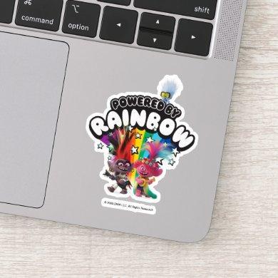 Trolls World Tour | Powered By Rainbow Sticker