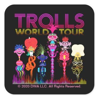 Trolls World Tour | Six String Leaders Square Sticker