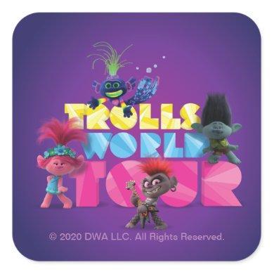 Trolls World Tour | Trollex, Poppy, Branch, & Barb Square Sticker