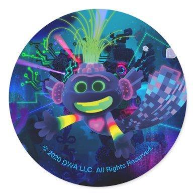 Trolls World Tour | Trollex Swimming Classic Round Sticker