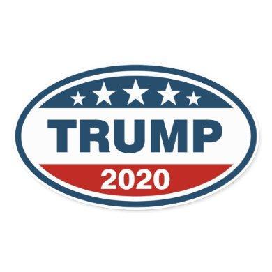 Trump 2020 Red/White/Blue Oval Sticker