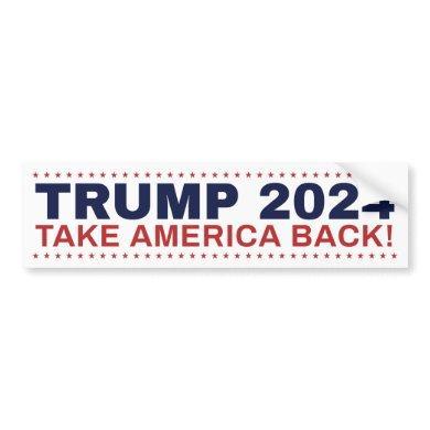 Trump 2024 bumper sticker Take America Back!