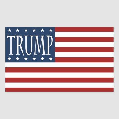 TRUMP FLAG STICKER