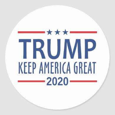 Trump Keep America Great Classic Round Sticker