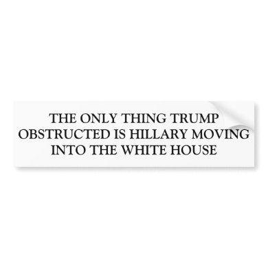 Trump Obstructed Bumper Sticker