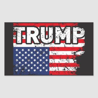 Trump USA Flag Sticker Political Cool Sticker