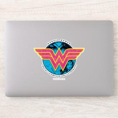 Truth Compassion Strength Comic Wonder Woman Logo Sticker