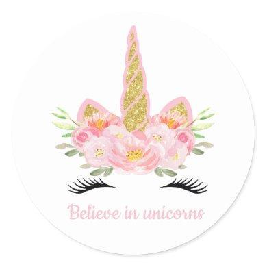 Unicorn Favor Tags Sticker