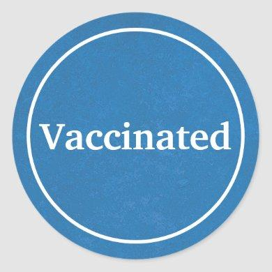 Vaccinated (Blue) Classic Round Sticker