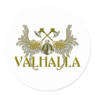 Valhalla Classic Round Sticker