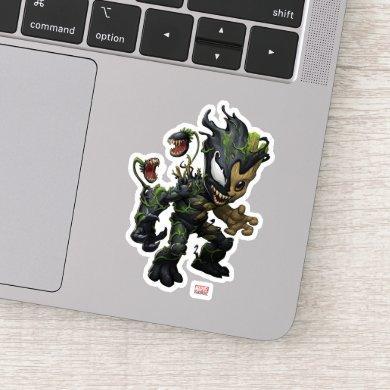 Venomized Baby Groot Sticker