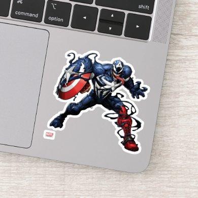 Venomized Captain America Sticker